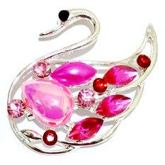 Bros Cantik Swan Pink - Aksesoris Fashion Pesta Wanita Hijab Kado Murah Trendy