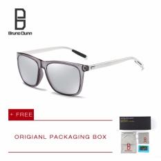 Bruno Dunn Brand 2017 Fashion baru buatan manusia bingkai bulat besar kacamata terpolarisasi Retro desainer merek matahari kacamata pria kacamata cakera dilarang 2140 (cermin perak lensa) - International