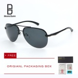 Jual Bruno Dunn Merek 2017 Baru Fashion Polarized Sunglasses Titanium Original Mens Sun Kacamata Merek Desainer Aviator Eyewear 143 Hitam Frame Abu Abu Lense Intl Grosir