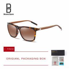 Harga Bruno Dunn Merek 2017 Baru Fashion Titanium Polarized Sunglasses Man Large Round Bingkai Merek Desain Retro Berjemur Kacamata Pria Kacamata Rayed Banned 2140 Leopard Teh Lense Intl Yg Bagus