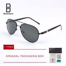 Harga Bruno Dunn Merek Pria Terpolarisasi Mengemudi Berjemur Kacamata Mb 209 Sunglasses Aviator Hitam Frame Abu Abu Lense Intl New