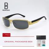Beli Bruno Dunn Merek Polarized Sunglasses Pria Klasik Desain Berjemur Kacamata Pria Drivingtitanium Frame 8485 Emas Frame Abu Abu Lense Secara Angsuran