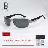 Harga Bruno Dunn Brand Polarized Sunglasses Men Classic Designer Sun Glasses Men Driving Points Titanium Frame 8485 Vintage Eyewear Accessories Silver Frame Grey Lense Bruno Dunn Online