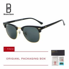 Toko Bruno Dunn Luxury Metal Men Women Retro Brand Designer Sunglasses Fashion Sun Glasses Female Round Vintage Sunglases 3016 Black Frame G15 Lens Termurah
