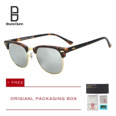 Jual Bruno Dunn Luxury Metal Men Women Retro Brand Designer Sunglasses Fashion Sun Glasses Female Round Vintage Sunglases 3016 Leopard Frame Silver Mirror Lens Intl Murah Tiongkok
