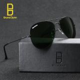 Jual Bruno Dunne Sunglases Penerbang 3025 Lapisan Nuansa Klasik Desainer Kacamata Hitam Uv400 Anti Sinar Uv Hitam G15 58Mm Internasional No