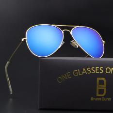 Toko Bruno Dunn Wanita Pria Polarized Aviator 3025 Sunglasses Emas Frame Biru Lense Intl Termurah Tiongkok