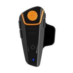 BT-S2 1000 M Rentang Helm Sepeda Motor Navigator Full Duplex Interfon (Hitam)-Intl
