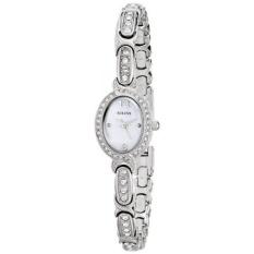 Bulova Womens 96 Lwarovski Crystal Stainless Steel Watch-Intl
