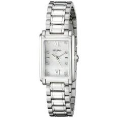 Bulova Womens 96P157 Analog Display Quartz Silver Watch-Intl