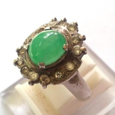 Bumi Permata - Batu Cincin Wanita Giok Jade Hijau Ring Silver 925