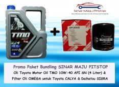 Ulasan Mengenai Bundling Oli Mobil Toyota Motor Oil Tmo 10W 40 Filter Oli Calya