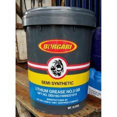 Burgari Semi Synthetic Lithium Hi-Temp Grease No. 3 GB - Gemuk Pelumas Serbaguna 1 Pail 15 KG ORIGI