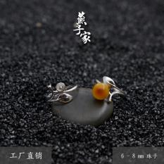 Burung Walet Rumah Perak Garpu Penyangga Mata Cincin Ambar Lilin Lebah