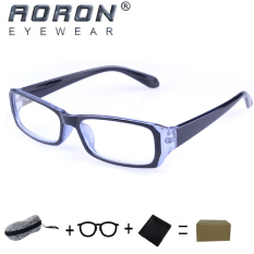 Harga Hemat Buy 1 Get 1 Freebie Aoron Brand New Style Anti Radiation Reading Glasses Anti Fatigue Computers Glasses Gold Film Eyeglasses 21007 Black Blue Intl