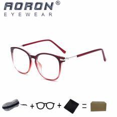 Toko Beli 1 Gratis 1 Freebie Aoron Kacamata Membaca Merek Retro Kacamata Komputer Anti Kelelahan Anti Cahaya Biru 3631 Merah Transparan Online Di Tiongkok