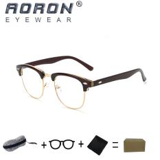 Spesifikasi Beli 1 Gratis 1 Freebie Aoron Kacamata Membaca Merek Retro Kacamata Komputer Anti Radiasi Anti Cahaya Biru 5162 Teh Baru