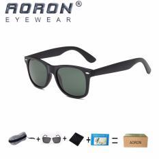 Miliki Segera Beli 1 Gratis 1 Freebie Aoron Fashion Kacamata Ria Baru Desain Klasik Sunglasses Uv400 Melindungi Polarized Kacamata P2140 Hitam Hijau