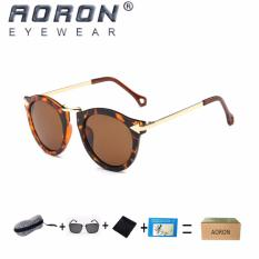 Review Terbaik Beli 1 Gratis 1 Freebie Aoron Fashion Kacamata Wanita Desain Klasik Sunglasses Uv400 Melindungi Polarized Sunglasses P1406 Leopard