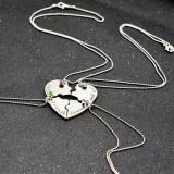 Jual Buy In Coins Baru 4 Pcs Set Terbaik Teman Selama Lamanya Kalung Heart Puzzle Pendant Perhiasan Perak Intl Di Bawah Harga