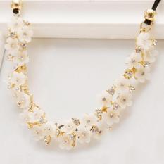 BUY IN COINS Rantai Kalung Choker Chunky Liontin Kristal Kalung Fashion Perhiasan Dada Wanita Yang Menawan