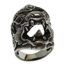 Buymore Garuda Wisnu Kencana Ring - Stainless Steel - Silver Black - GWK35