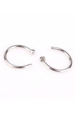 Buy TRA 2 Buah Stainless Steel Ring Cincin Hidung Terbuka Kancing Anting-Anting Perak