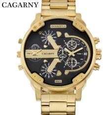 Promo Cagarny Jam Tangan Pria Jam Tangan Es Men Fashion Quartz Jam Tangan Jam Tangan Es Cool Big Watch Jam Tangan Kulit Gelang 2 Kali Militer D 6820