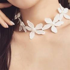 Spek Cannice Choker Lace White Flower Korea Cannice