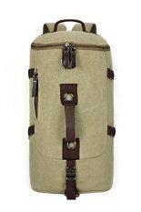 Jual Canvas Backpack Casual Perjalanan Berkapasitas Tinggi Tas Pendaki Gunung Hijau Branded Murah