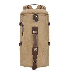 Harga Canvas Backpack Casual Tas Perjalanan Berkapasitas Tinggi Gunung Bag Khaki Oem Baru