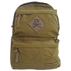 Dimana Beli Canvas Respect Backpack Khaki Respect