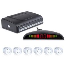 Mobil Auto LED Display Radar Radar Sistem Suara Berdengung Peringatan dengan 6 Sensor Parkir-Intl