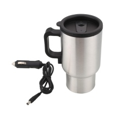 Diskon Produk Car Coffee Drinks Electric Heated Cup 450Ml Thermos Thermal Insulated Mug Intl