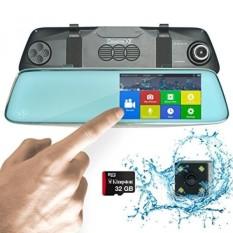 Kamera Dasbor Mobil Mobil Pro Dual DVR 1440 P Depan di Dalam dan Belakang Parkir Membantu Kamera Cadangan G-Sensor Keamanan SONY Modus Malam & Loop Rekaman (HD Cermin Dash Cam + 32 GB MicroSD)-Intl