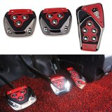 Promo Toko Mobil Pedal Kaki Universal C Merah Hitam Manual Mobil Pedal Gas Rem Kopling Racing Bantalan Penutup Set Merah