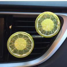 Car Home Lemon Refresh Air Outlet Wangi Parfum Klip Penyegar Udara Diffuser-Intl