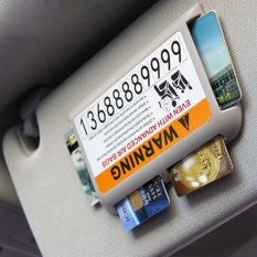 Car Parking Card High-speed IC Kartu Klip Mobil Visor Clip Organizer Multifungsi Parkir Sementara Nomor Telepon- INTL