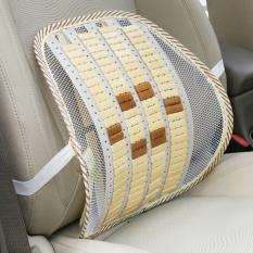 Kursi Mobil Kursi Kantor Lumbar Mendukung Bernapas Mesh Cool Bambu Tablet Back Rest Cushion Low Back Pain Relief Mengemudi- INTL