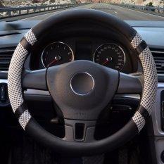 Ulasan Car Steering Wheel Covers Diameter 14 Inch Kulit Pu For Musim Panas Grey S Intl