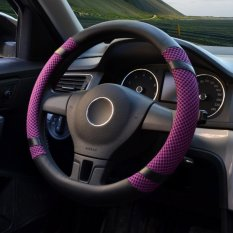 Review Mobil Roda Kemudi Covers Diameter 15 Inch Kulit Pu For Musim Panas Ungu Intl Terbaru