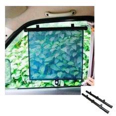 Tips Beli Car Sun Block Curtain Tirat Penahan Sinar Matahari 2 Pcs Hitam