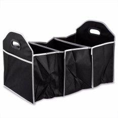 Mobil Trunk Organizer Folding Non Slip Bawah Wadah Penyimpanan untuk Review Mobil/SUV/Kargo