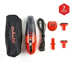 Car Vacuum, mAuto 12 Volt 85W Handheld Vacuum Cleaner for Cars Trucks and SUVs, Bagless Vacuum Cleaner with 3 Attachments Portab - intl