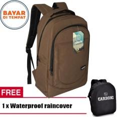 Beli Carboni Backpack Tas Ransel Punggung Laptop Casual Ma00028 15 Coffee Original Raincover Dengan Kartu Kredit