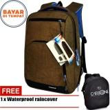 Spesifikasi Carboni Make My Day Original Casual Backpack Laptop Sistem Ra00013 17 Coffee Raincover Waterproop Carboni