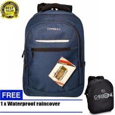 Jual Carboni Men S Backpack Retro Simle Desingn Versatile Compur Bag Ma00071 18 Blue Raincover Di Dki Jakarta