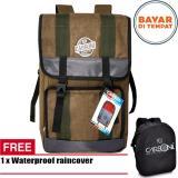 Carboni Semi Keril 45L Backpack High Spec Quality Original Ra00044 Coffee Raincover Waterproop Di Dki Jakarta