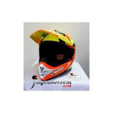 CARGLOSS Helm MX Super CROSS Orange Black-Yellow MXC TRAIL CARGLOS