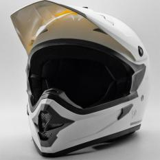 Cargloss MXC Motorcross Oackley Met 6 Helm Full Face - White